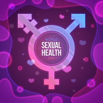 Transgender-symbol des welttages der sexuellen gesundheit