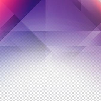 Transparent hintergrund mit lila polygonale formen