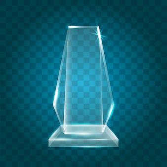 Transparent shining blank acryl kristallglas trophäe award