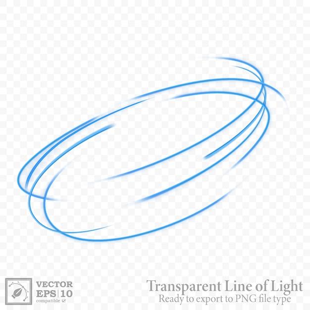 Transparente blaue wellenlinie