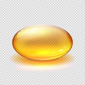 Transparente gelbe kapsel