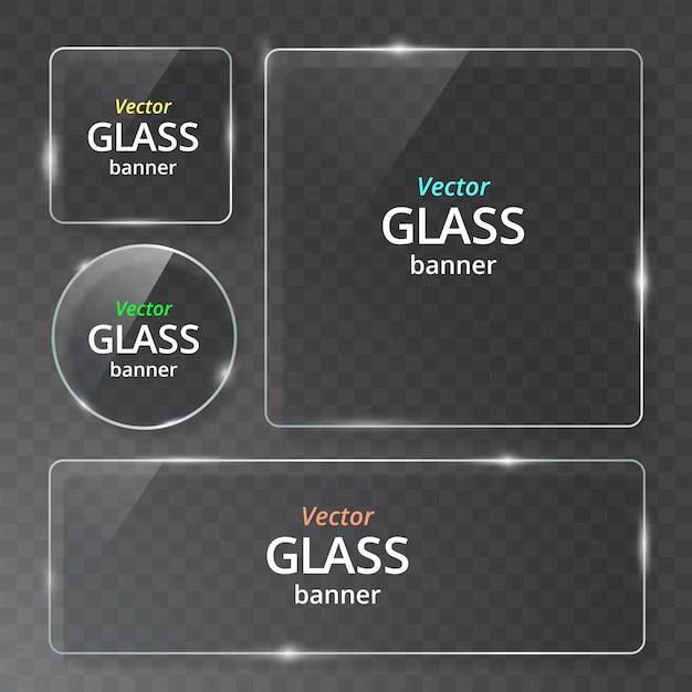 Transparente glasplatte mit reflexion und schatten.
