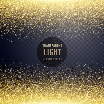 Transparente goldene Glitzer Lichteffekt Hintergrund