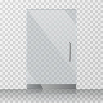 Transparente klarglastür lokalisiert