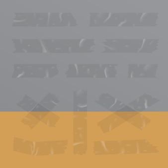 Transparente klebstreifen lokalisierte vektorillustration