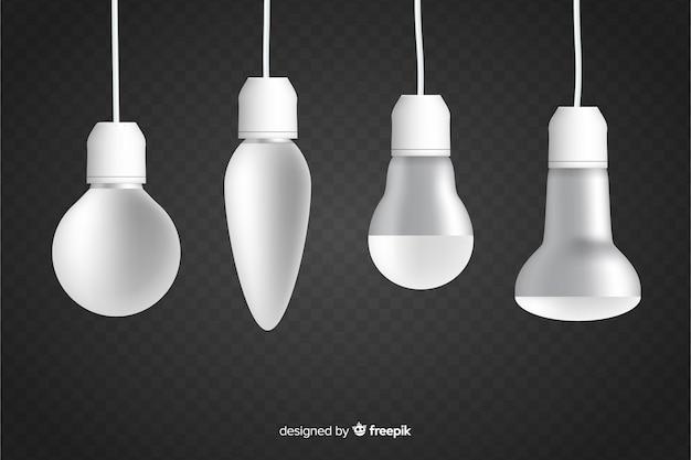 Transparente realistische glühbirne