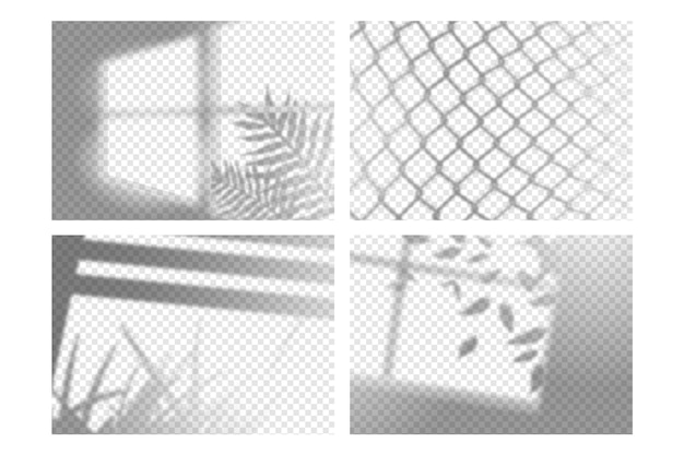 Transparente schatten mit überlagerungseffekt