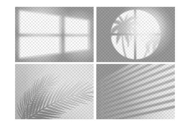 Transparente schatten überlagern das effektdesign