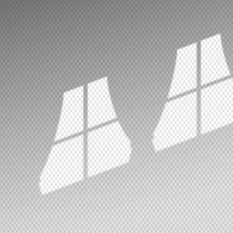Transparente schatten überlagern den effekt mit vorhängen