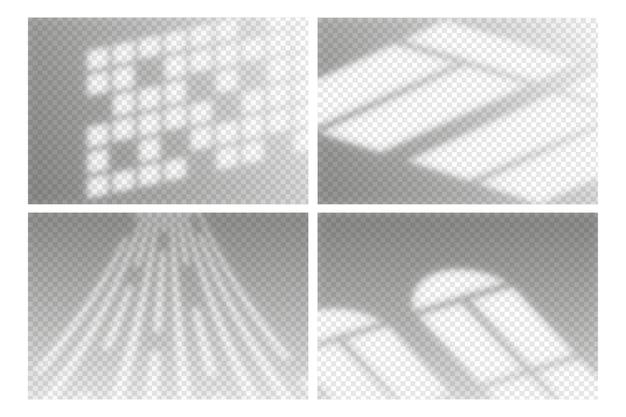 Transparente schatten überlagern den effekt