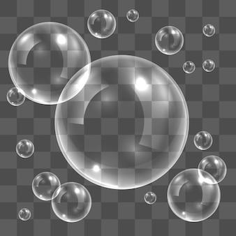 Transparente seifenblasen