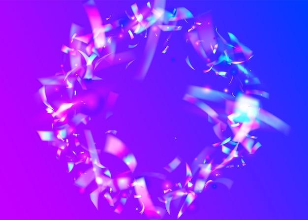 Transparente textur. kristallkunst. fallender glitzer. retro-prisma. violette unschärfe blendung. laser-weihnachtsvorlage. surreale folie. kristalleffekt. rosa transparente textur