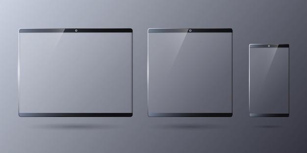 Transparente touchscreens für digitale gadgets-vorlage