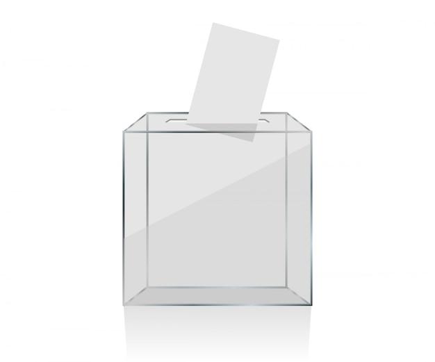Transparente wahlurne