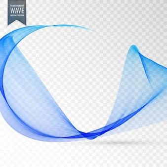 Transparente welleneffekt in der blauen farbe