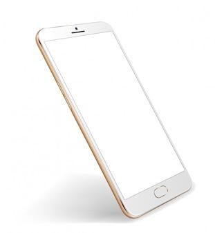 Transparenter bildschirm des smartphone-modells für einfache platzdemo