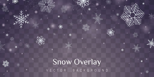 Transparenter dekorationseffekt der schneeflocke.