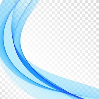 Transparenter eleganter hintergrund der stilvollen blauen welle