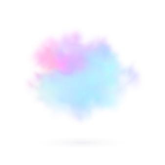 Transparenter farbiger wolkenhintergrund