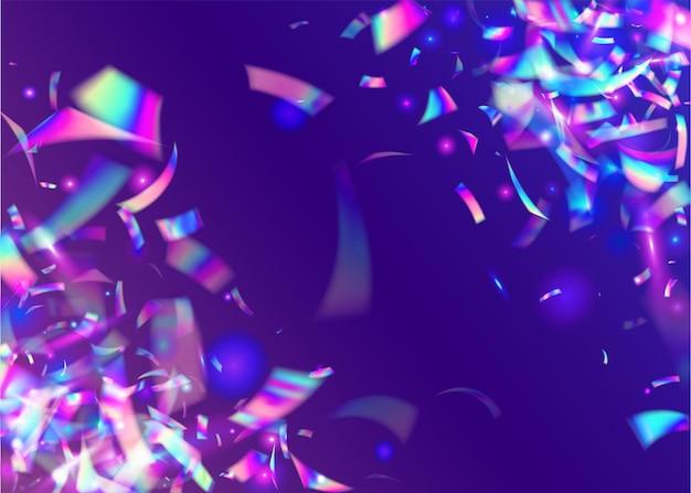 Transparenter glitzer. lametta. kristallkunst. blauer glänzender glanz. fantasy-folie