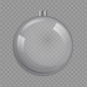 Transparenter hintergrund der kristallweihnachtsball-illustration