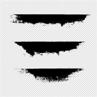 Transparenter hintergrund der schwarzen kleckse