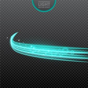 Transparenter hintergrund des blaulichteffektes mit realistischen scheinen.