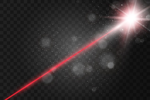 Transparenter laserstrahl