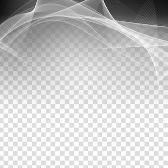 Transparenter moderner hintergrund der abstrakten grauen welle