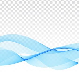 Transparenter moderner hintergrund der blauen welle des vektors