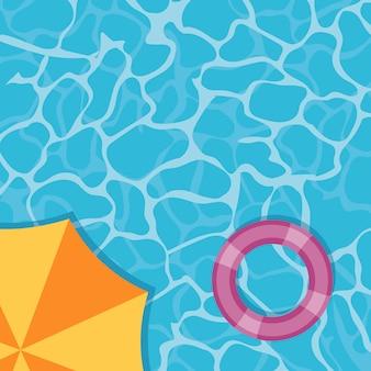 Transparenter poolwassersommer
