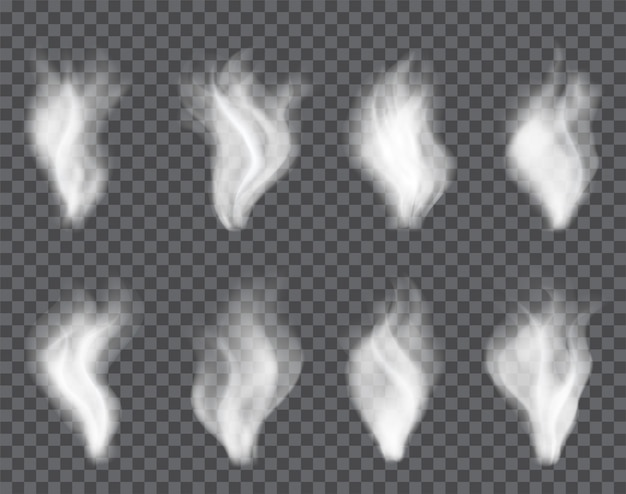 Transparenter rauch auf dunkel