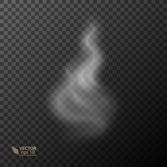 Transparenter rauch auf dunklem hintergrund