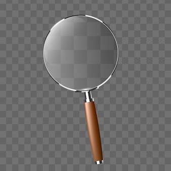Transparenter realistischer vektor der lupe.