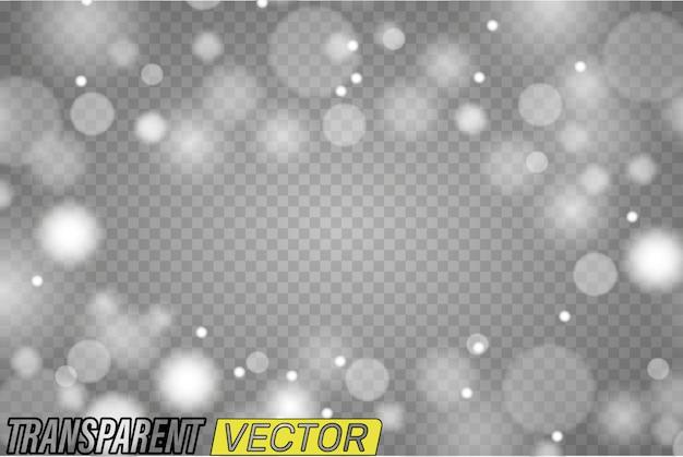 Transparenter runder rahmen. kreise leuchten lichteffekt isoliert