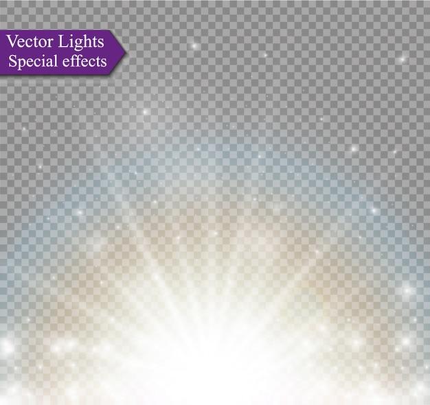 Transparenter sonnenlicht-spezialeffekt für linseneffekte