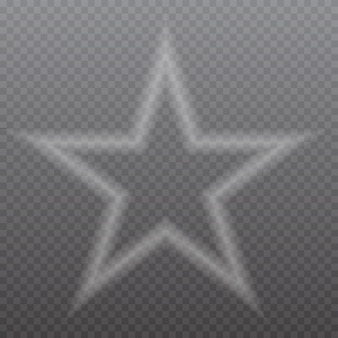 Transparenter stern