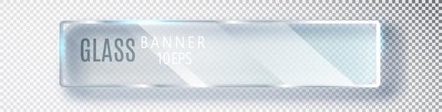Transparentes horizontales glasbanner