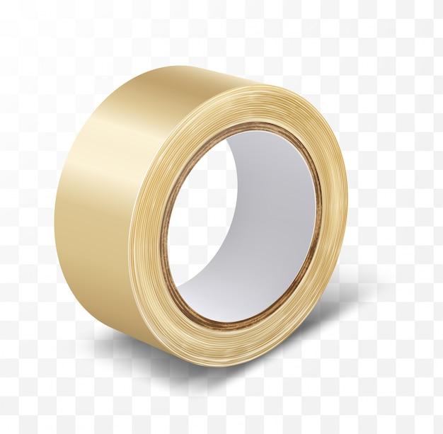Transparentes klebeband für die kanalrolle