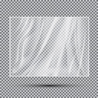 Transparentes, leichtes polyethylen-banner. vektor-illustration.