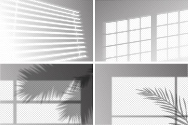 Transparentes schatten-design mit ovelay-effekt