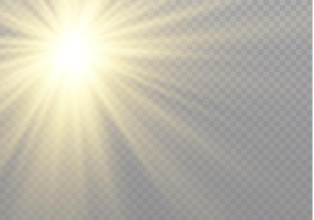 Transparentes sonnenlicht speziallichteffekt.