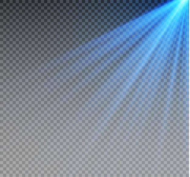 Transparentes sonnenlicht speziallinseneffekt. abstraktes weihnachtsmuster. funkelnde magische staubpartikel.