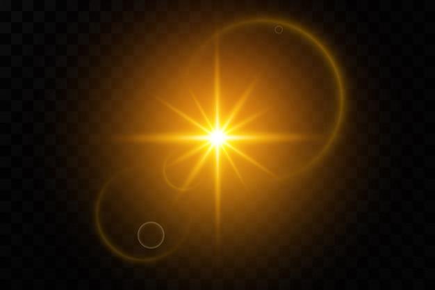 Transparentes sonnenlicht speziallinseneffekt