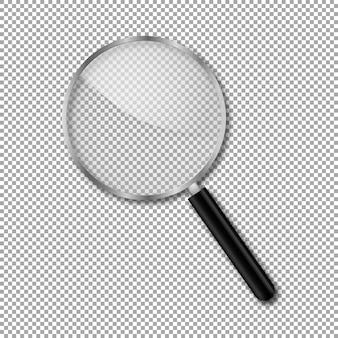 Transparentes vergrößerungsglas
