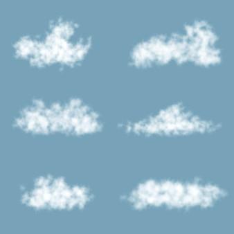 Transparenz-farbverlaufswolken festgelegt