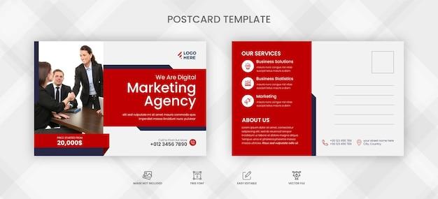Transport business postkartenvorlage