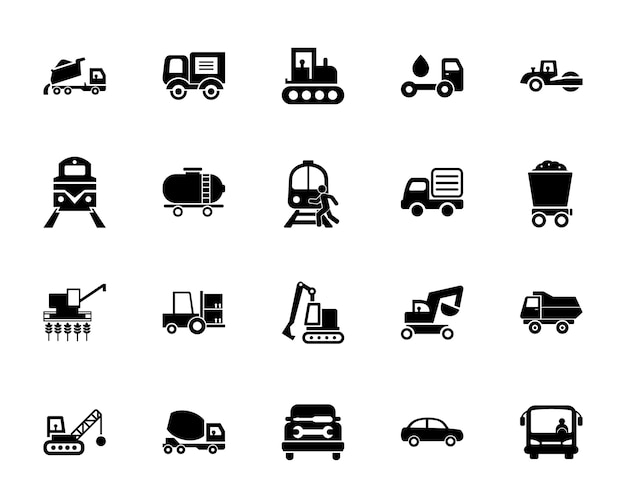 Transport-icon-set