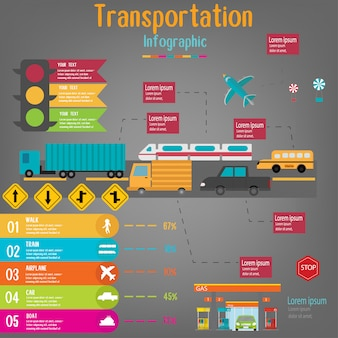 Transport infographic.vector abbildung.