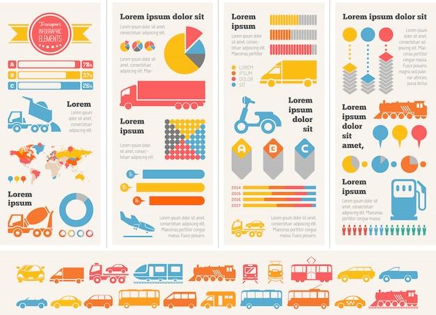 Transport infographik elemente.
